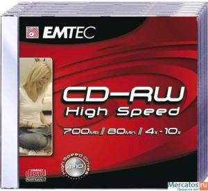 Диск CD-RW Emtec 700Mb 10x Slimbox