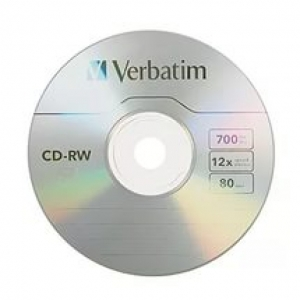 Диск CD-RW Verbatim 700Mb 12x без коробки